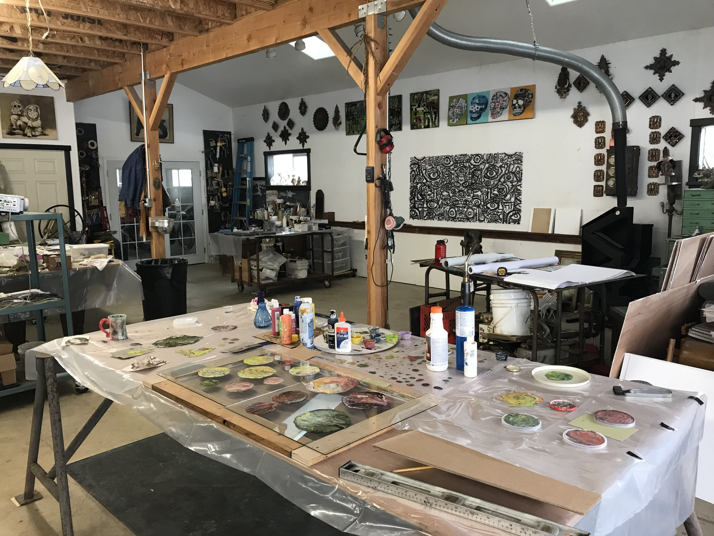 Moontail Arts. Studio of K.C. Welch in Williams, Oregon.