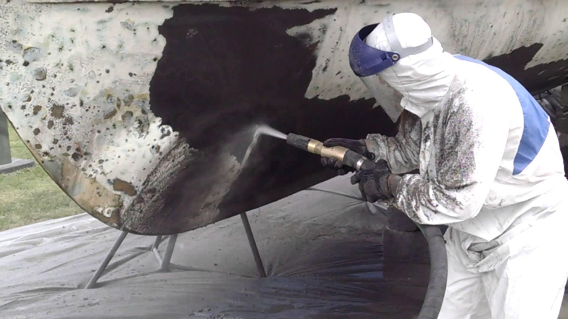 marine - Sandblasting and Dustless Blasting - Removal of anti fouling coatings