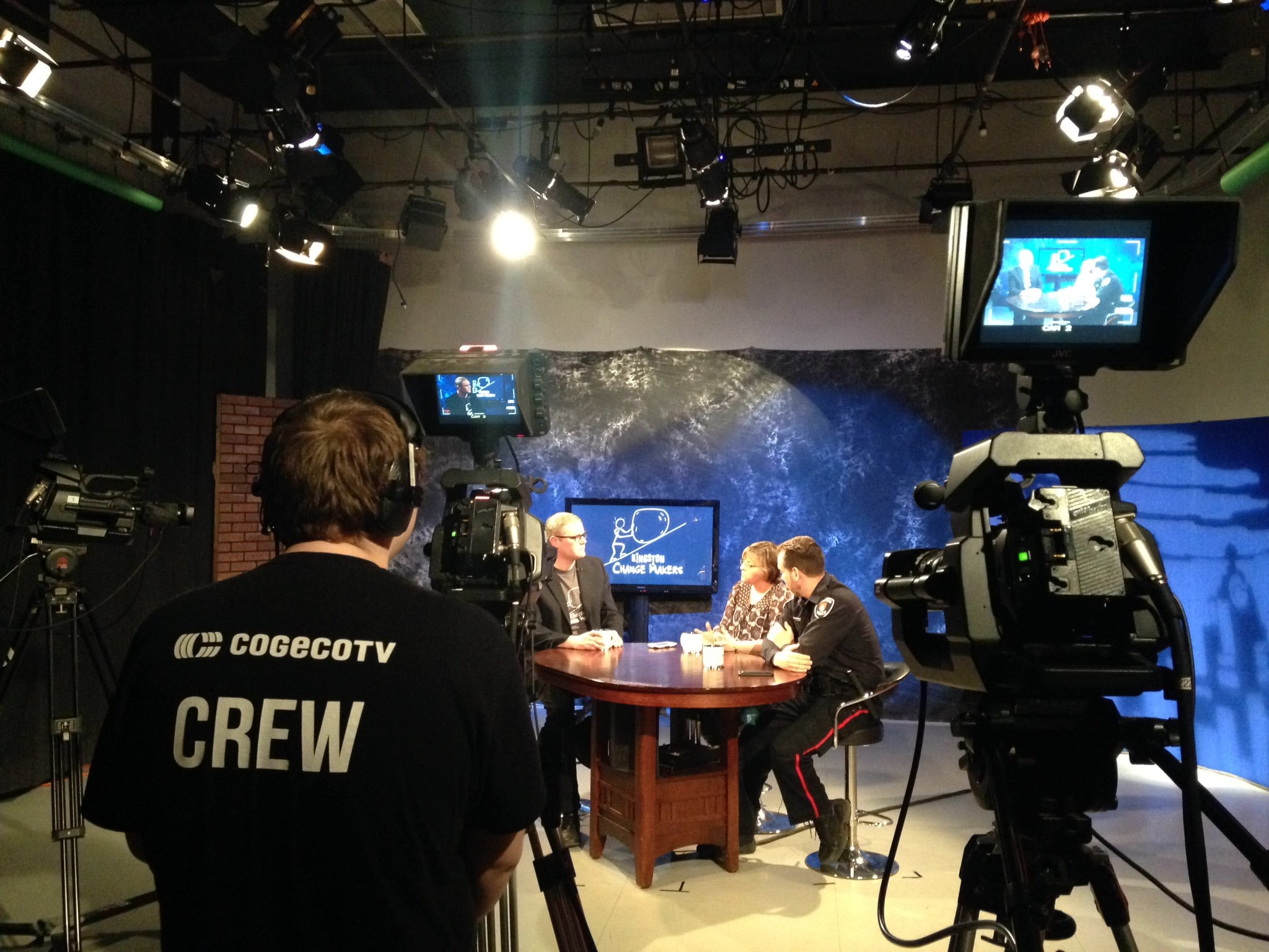 The set of my community television show entitled Kingston Change Makers