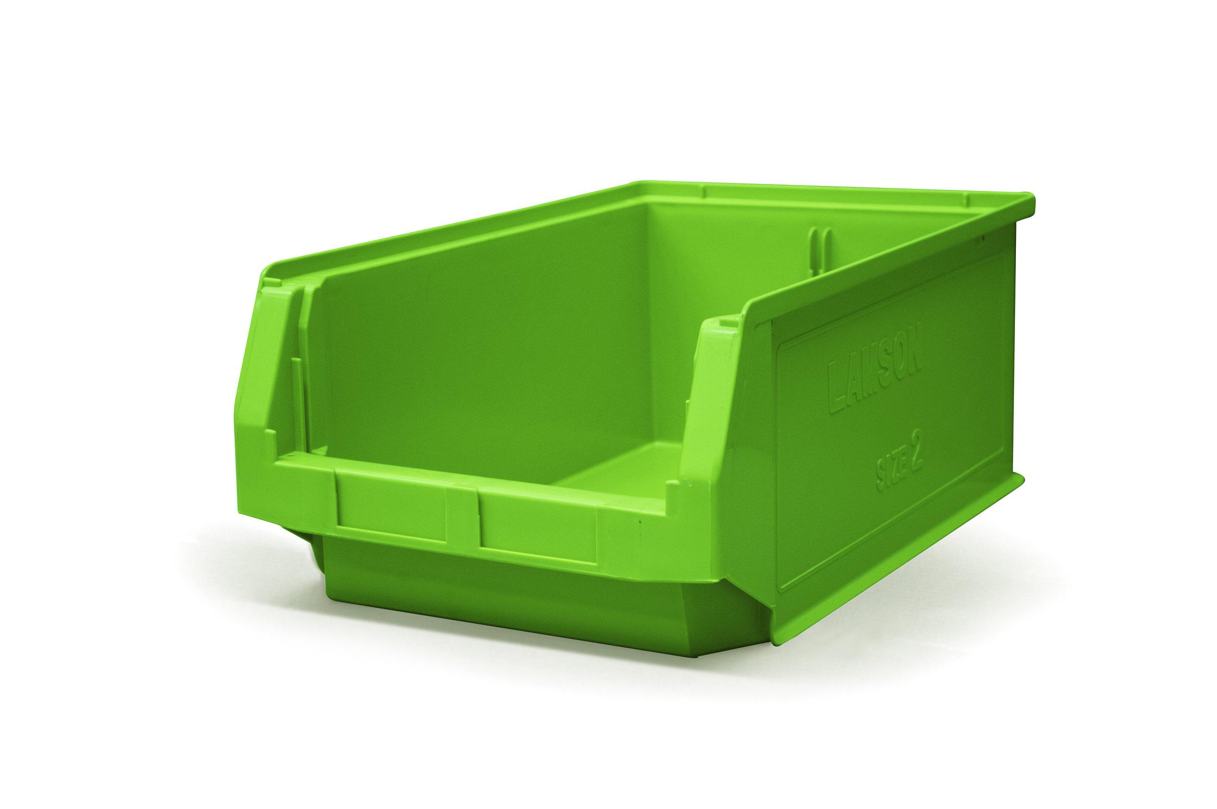 Size 2 plastic bins - 200mm x 310mm x 500mm
