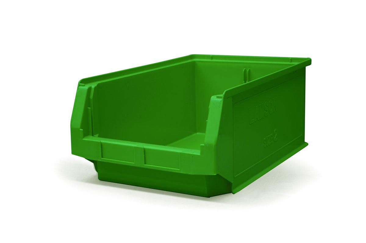 Size 2 Green Plastic Bin