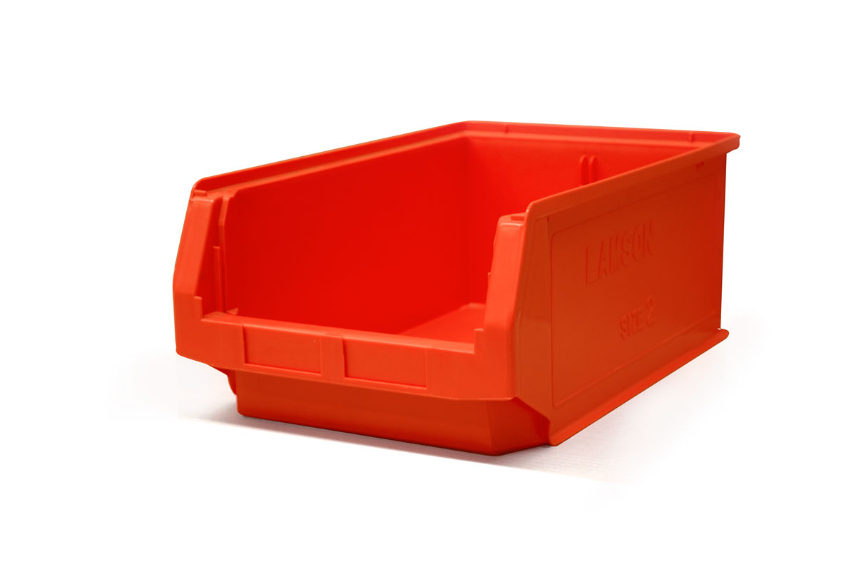 Size 2 Red Plastic Bin