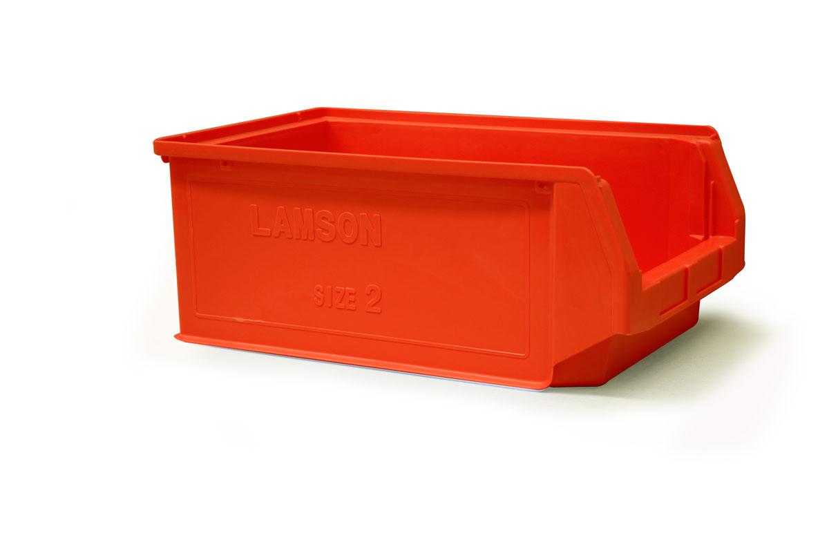 Size 2 Red Plastic Bins