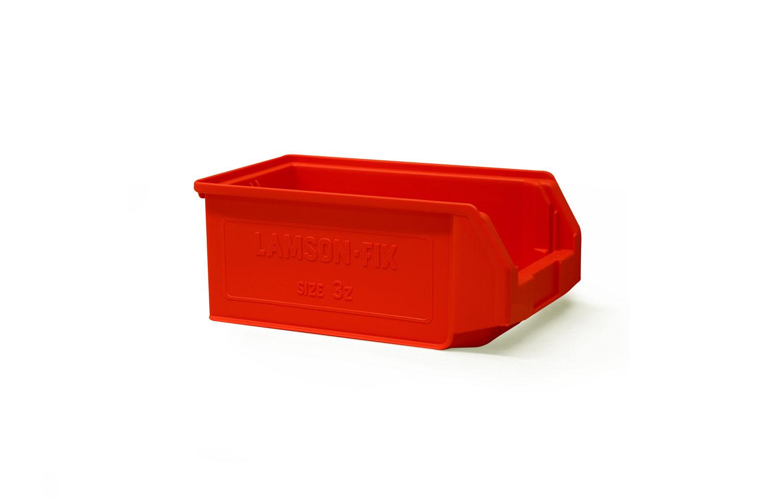 Size 3Z Red Plastic Bin
