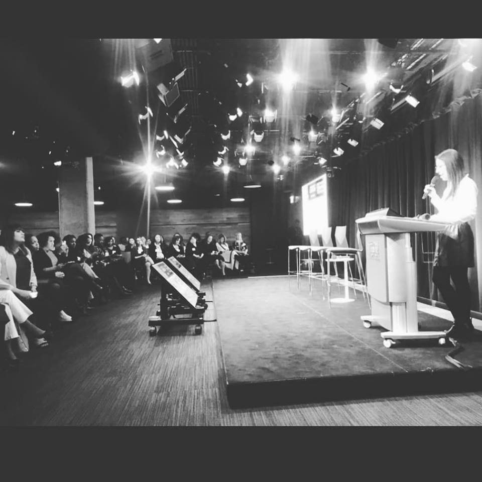 Me speaking at Google Chicago for International Women's Day.