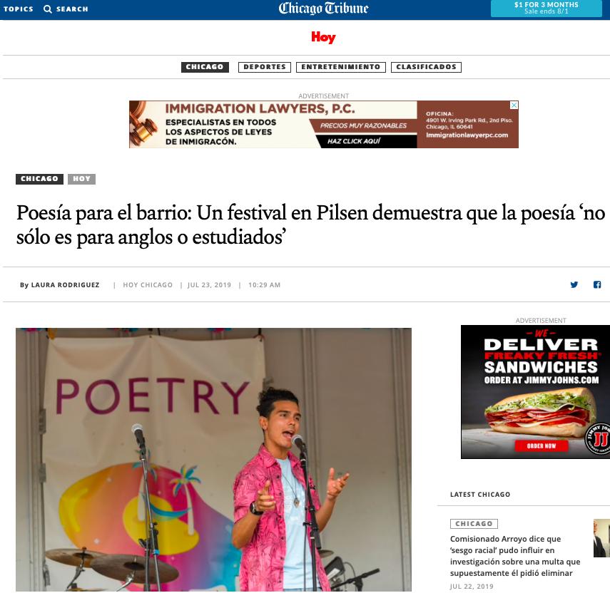 poetry-foundation-chicago-block-party-hoy-chicago-tribune-ximena-larkin-Laura-rodriguez-bilingual-publicist
