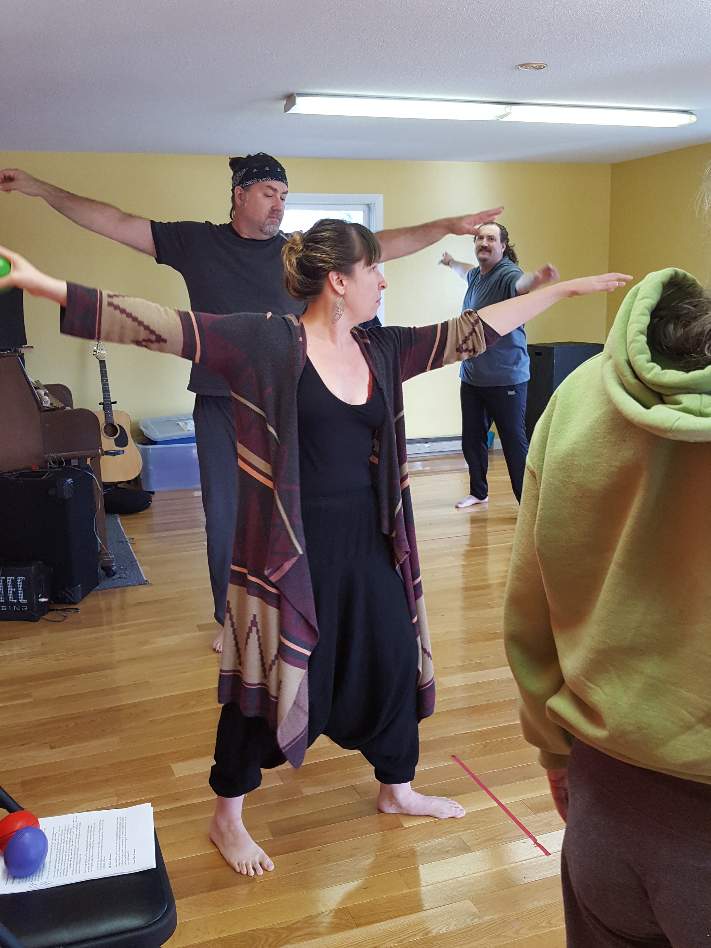 Bercovici working with her theater company, Real Live Theatre