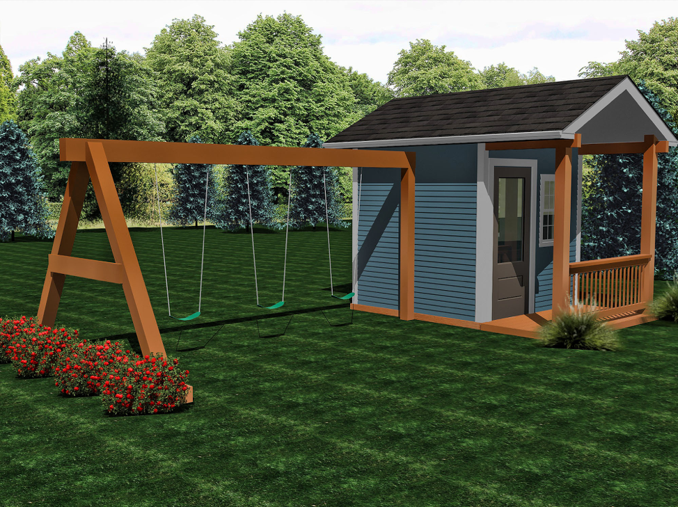 Ranch with Deck  Buildable Plans -$400  Playhouse Build - $8200