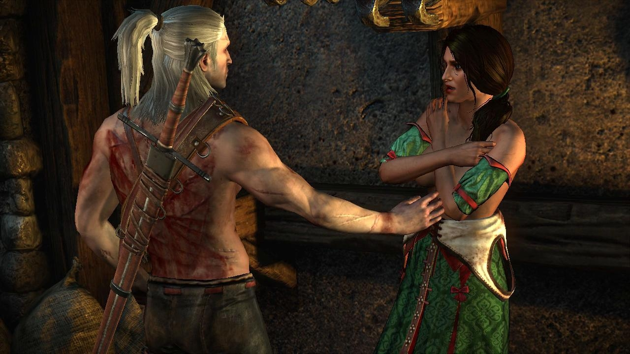 I can count on one hand the number of female characters in  The Witcher 2  that are both alive by the end and which didn't propositioned Geralt along the way. Sex is the only reward women can offer here.
