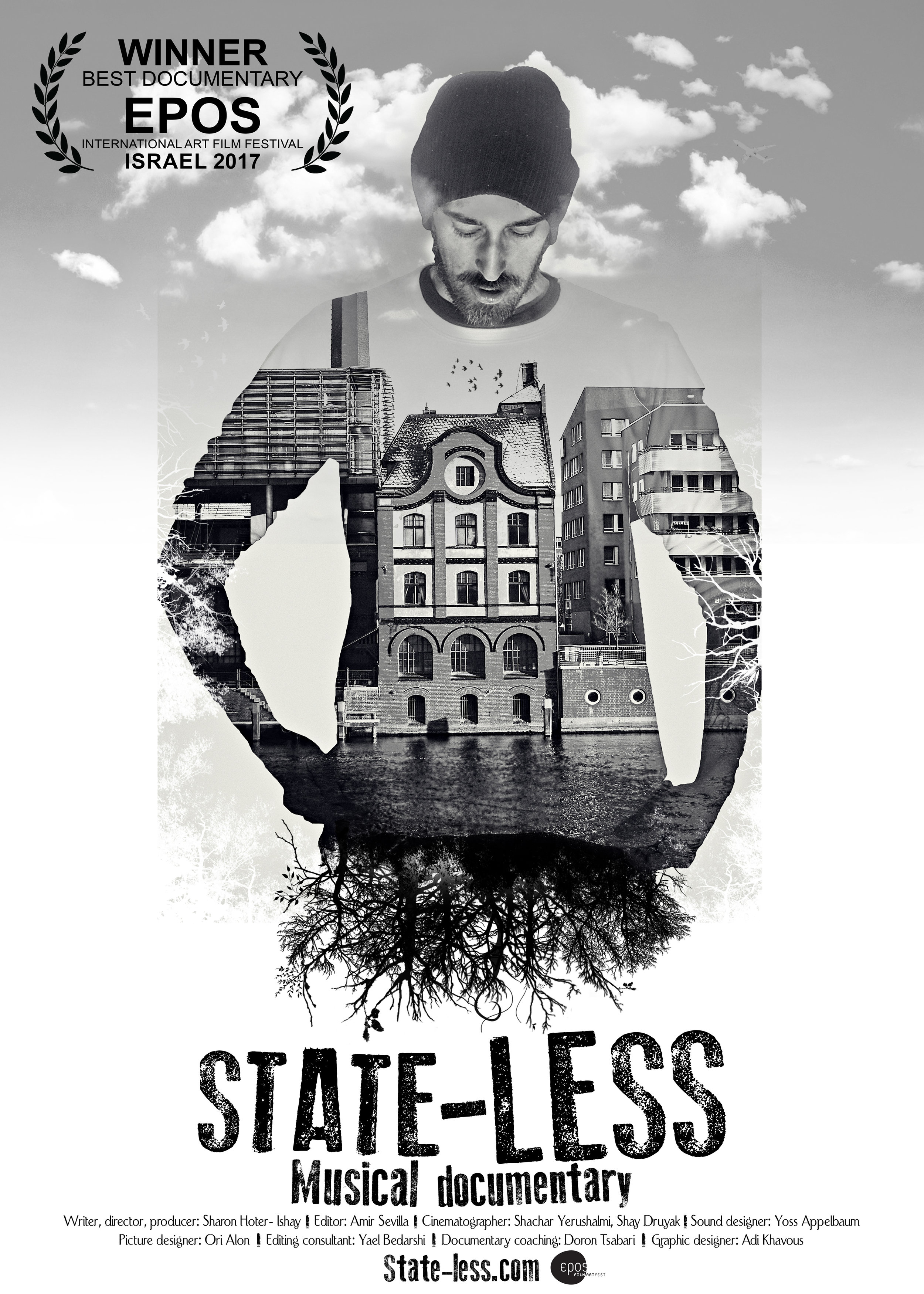 State-Less -Music Documentary.  The Story of Adi Khavous, a musician and extraordinary artist who chose a vagabond lifestyle. Adi left home in Israel and now lives in Canada as a solitary immigrant and rock 'n' roll singer. The film depicts five years of Adi's journey and presents an alternative, off-beat way of life. In his lonesome life, Adi holds on to one dream: to break through as a musician.