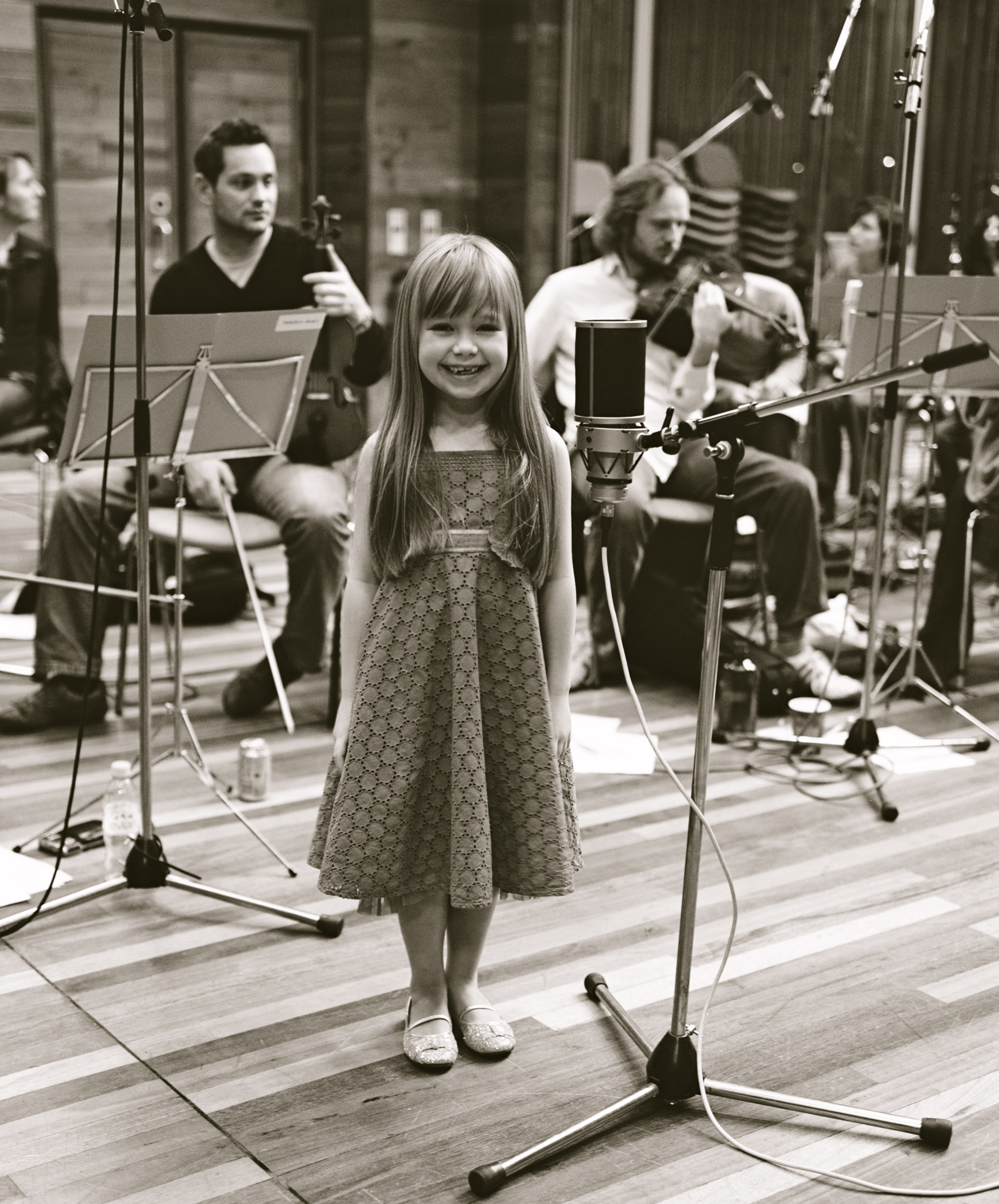 Connie Talbot at the Olympic Studios during the recording ofSomewhere Over The Rainbow -