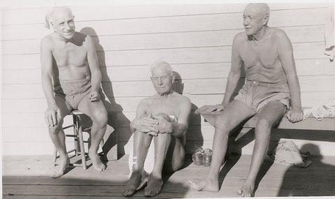 Walter Rahn, August Grabe, and Ed Aldridge. (1950)