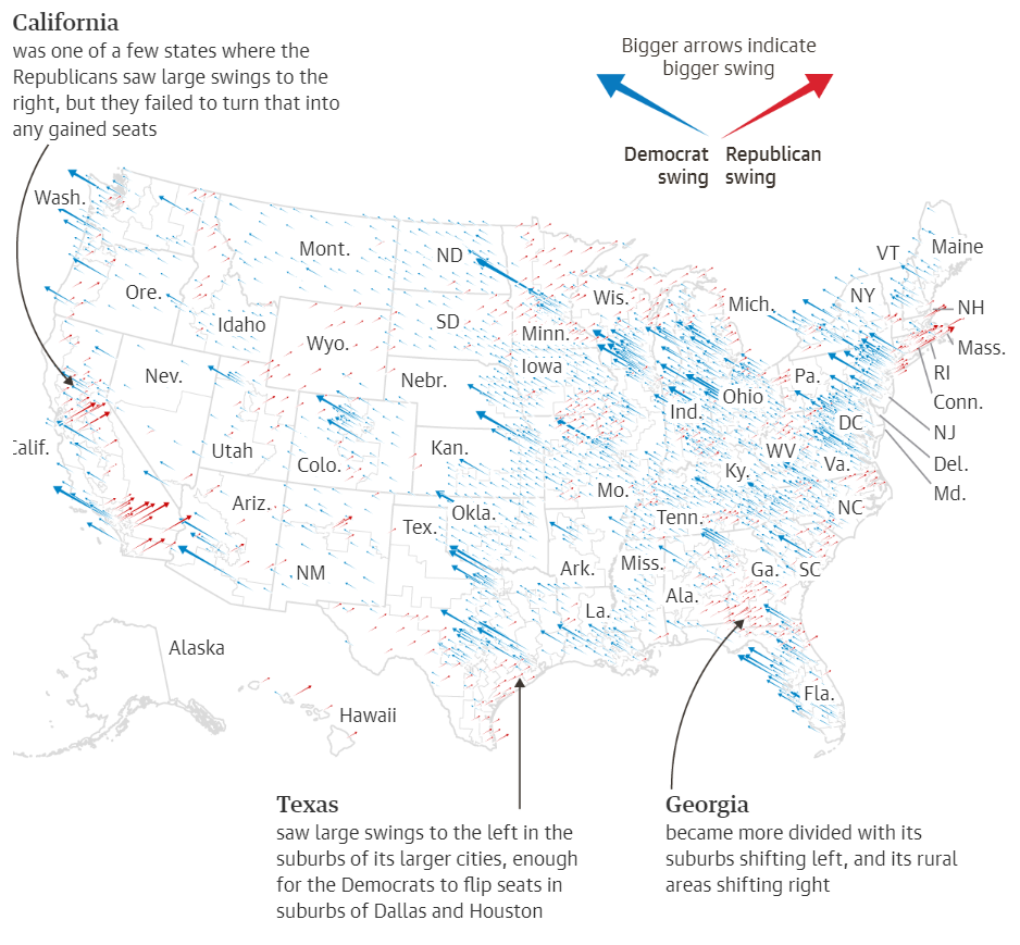 Visualization of the blue wave presented by    The Guardian   .