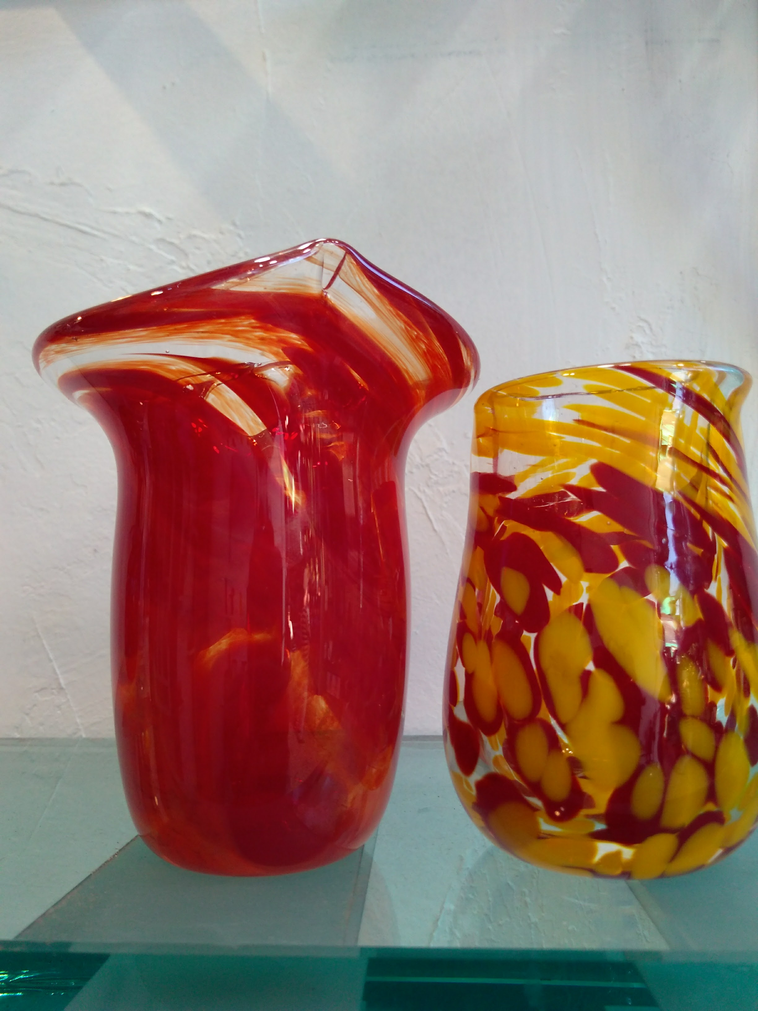 Red Flame Vase