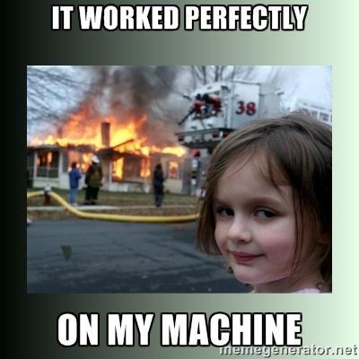 worked on my machine yo