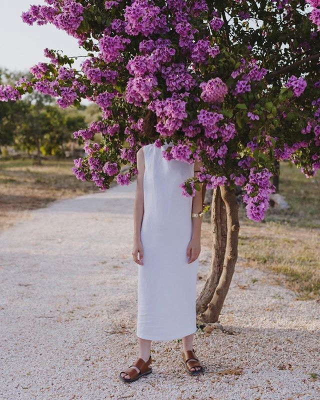 """g i v e  y o u r s e l f  t i m e . nothing in nature grows year round."" - @punkypins  #Repost @masseriamoroseta ・・・ Our bougainvillea will soon be in flower. Our super friends @alexandtrahanas made their shoot here last year with photographer @_marinadenisova_ ."