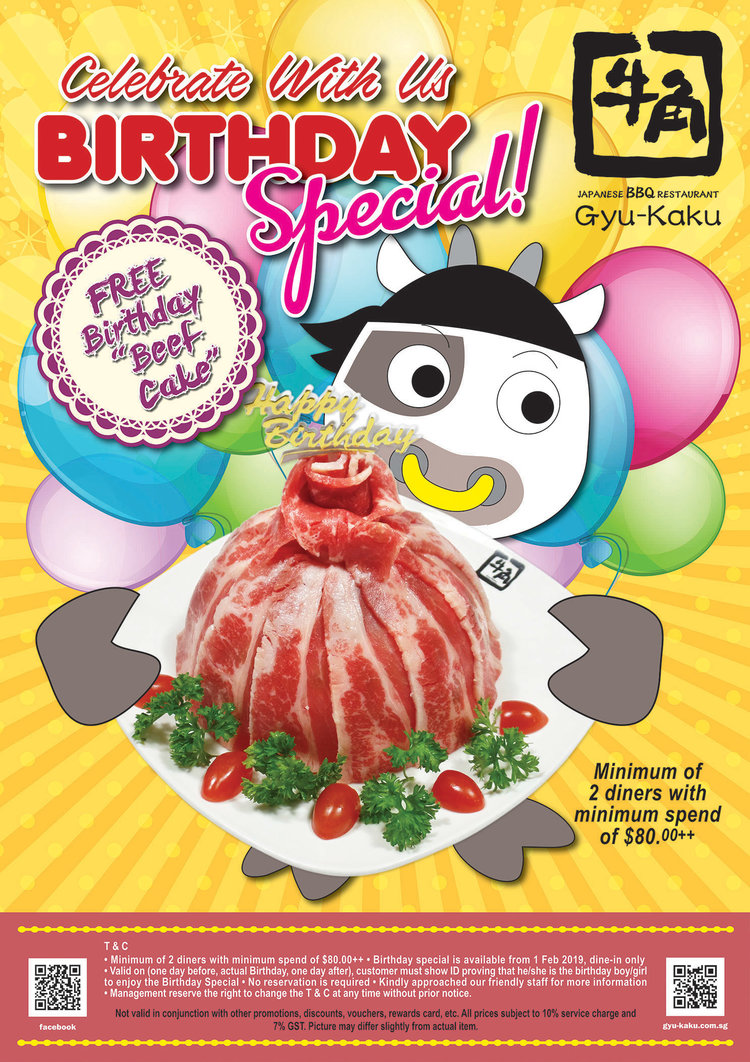 Birthday Special — Gyu-Kaku Singapore