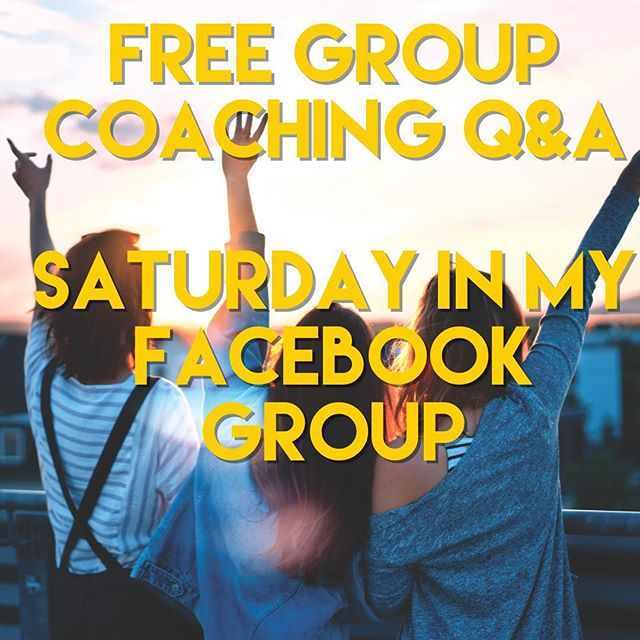 Link in profile! Group coaching Q&A Saturday 9/29 11am PST. Join my Facebook group the Yes And Love Squad! 🤗🎉🤗