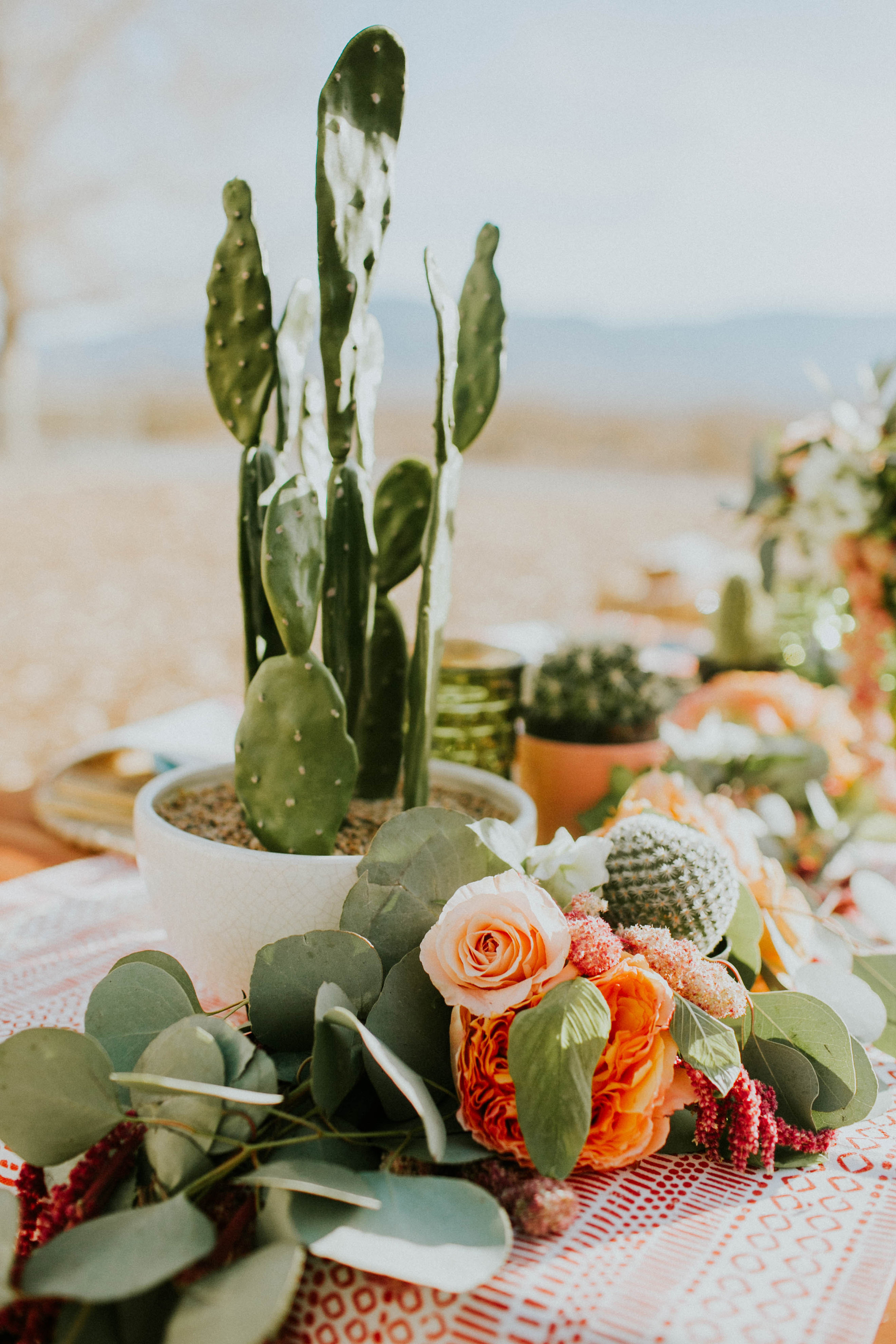 Fruit & Cactus - This shoot was inspired by Natural Fruit Colors, spotlighting the Ruby Red Grape fruit. We also mixed in a Desert Cactus Garden vibe to compliment the Venue located in the Mojave Desert of Southern California.Venue: Flip Flop Ranch - Lucerne Valley CaPhotography: Serina Harvey Photography & Michelle Bongirno PhotographyBridal Dress: Smitten Bridal - Hesperia CaFlorals: Kristin Smith Floral ConceptsHMUA: Lizeth Carillo - Bella MiaModels: Aaron and Laura Staggs, Nancy ValtierraSee more from this shoot:Michelle Bongirno's Photo Blog
