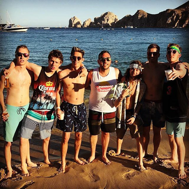 Brothers having fun in Cabo for Spring Break....some having a bit too much fun