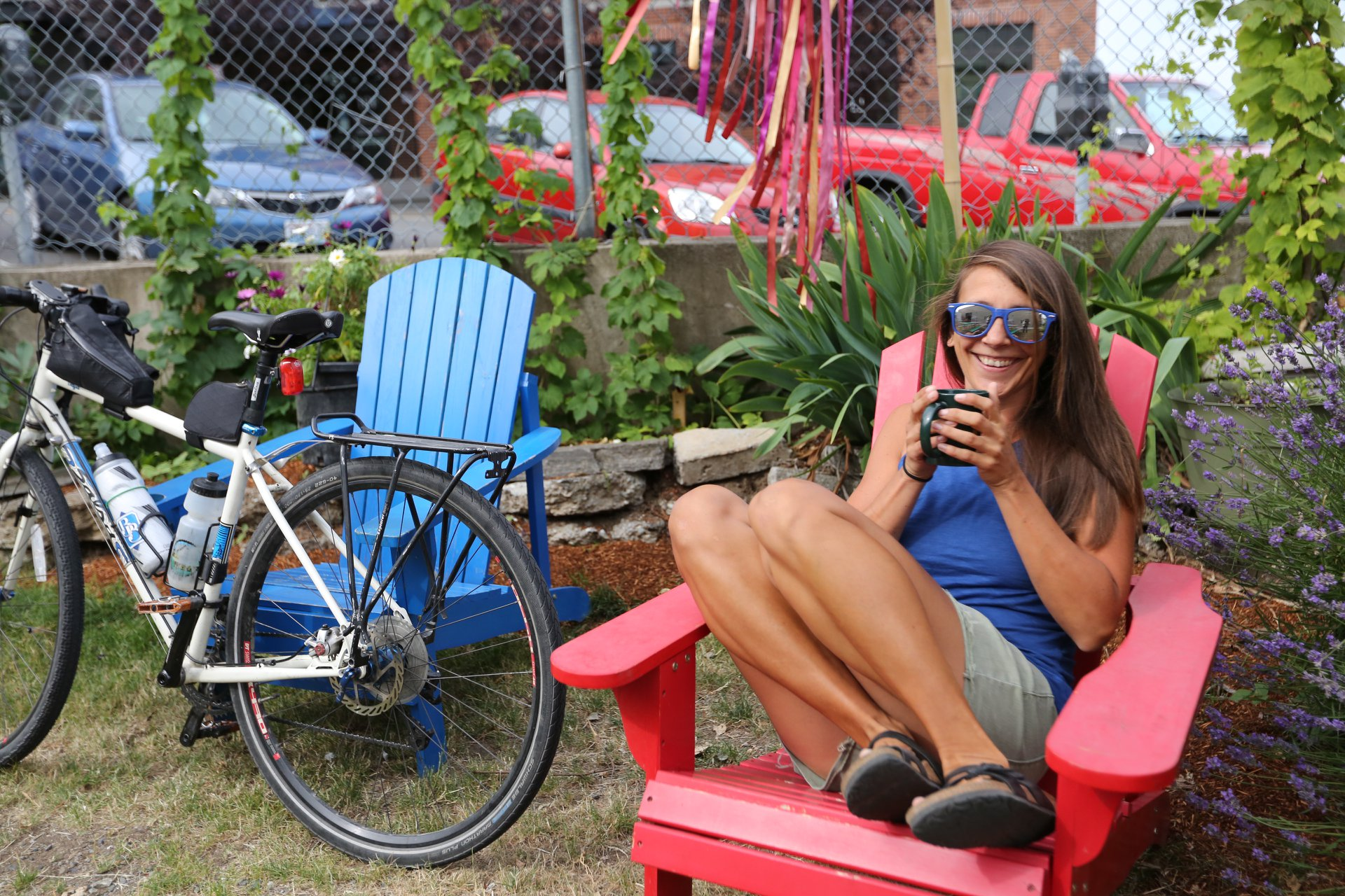 You can often find Jenny on her bike or enjoying her favorite beverage (coffee) somewhere outdoors, preferably in the sunshine.