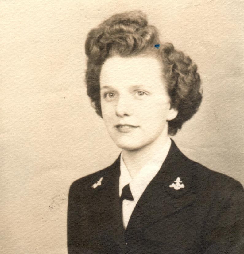 Frances Curtis Kale in uniform.