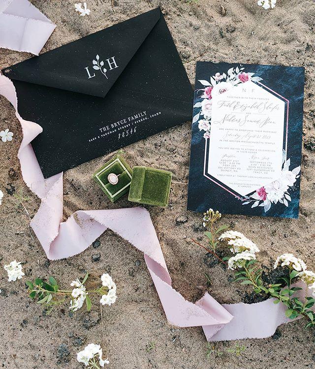 Snippits and Ribbons 🌿 .. .. #creativemeetandshoot  Photo @sashamatsumura  Invitations @anthologyprint Floral @plushfloral Ring Box @flowersforlola_com .. .. #invitations #calligraphy #rexburgflorist #rexburgweddings #idahofallsflorist #idahowedding #custominvitations #details #designs #photography #wedding #beachvibes #beach🌊 #weddingcake #weddingphotography #creativemeetandshoot #weddingdress #weddingrings #ringbox #vintage