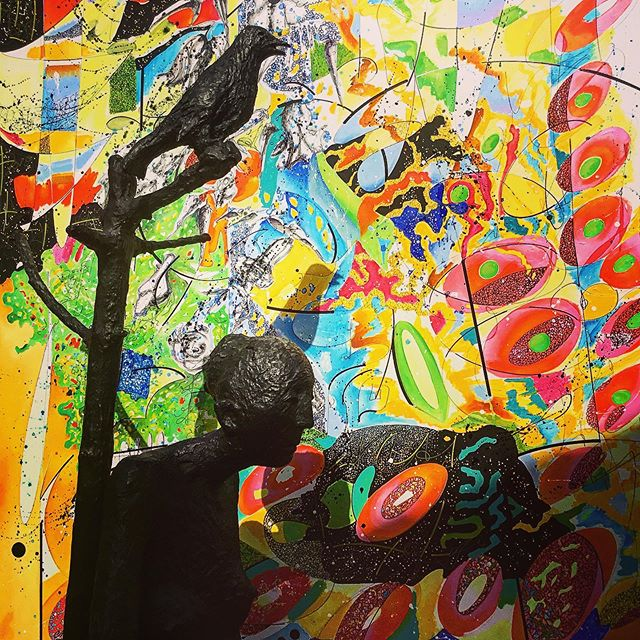 MUSÉE LAZARET OLLANDINI l MUSÉE MARC PETIT l Sculpture de Marc Petit : La jeune fille et l'oiseau l Peinture à l'huile de Nicole West: Pollinisation lll.#artsurtoile #patternpainting #texturepainting #textiledesign #environnement #environmentart #artinnature #abstractart #abtracpainting #ContemporaryArt #artcontemporary #artcotemporain #zeitgenössichekunst #kunststiftungsachsenanhalt #artgalery #artfondation #artfoundation #kunststiftung #berlingallery #kunstgaleriemünchen #galeriemünchen #artcollections #nicolewestart #nicolewestkunst #nicolewestartiste #artincorsica #color