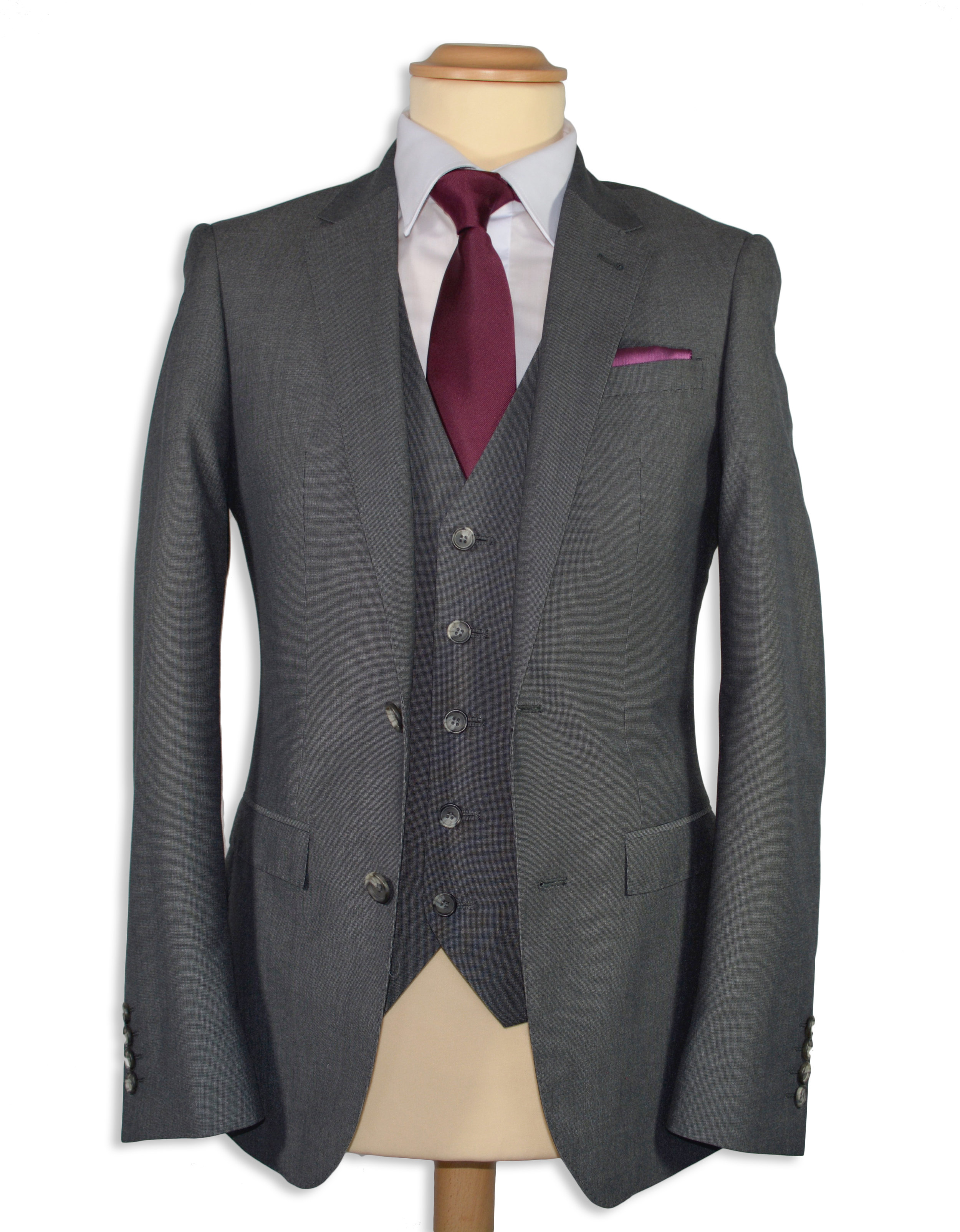 Grey Slim Fit Suit (Hire or Buy)