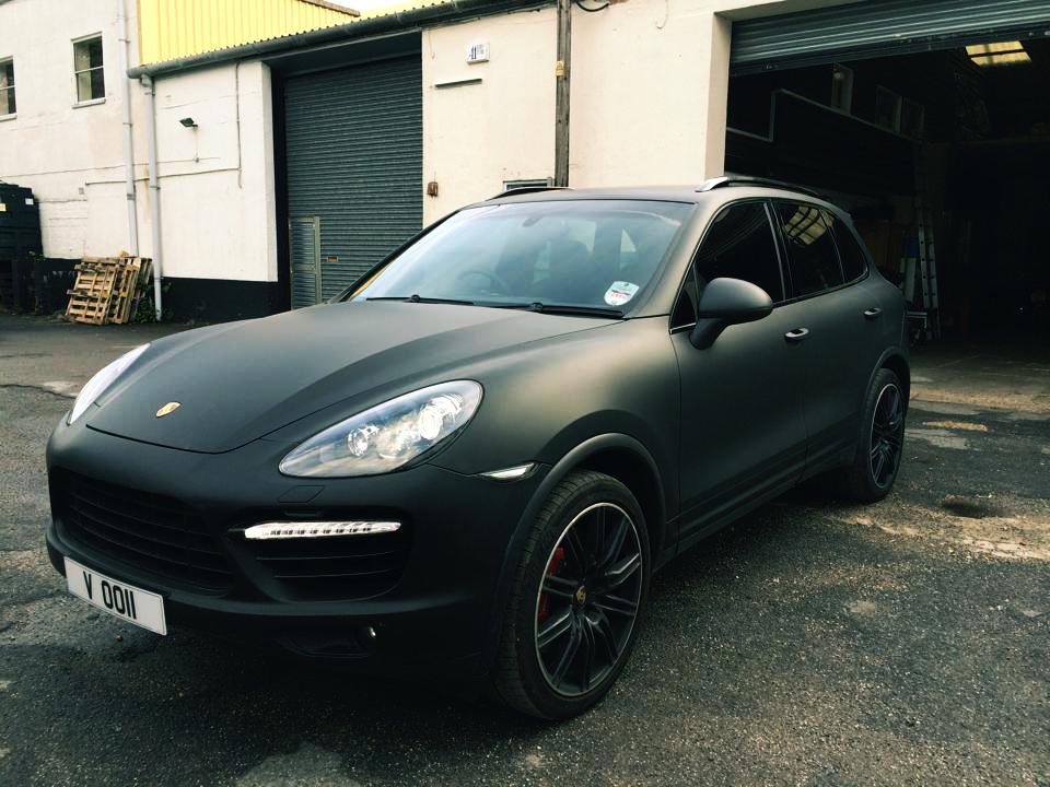 Matte Black Car Wrap