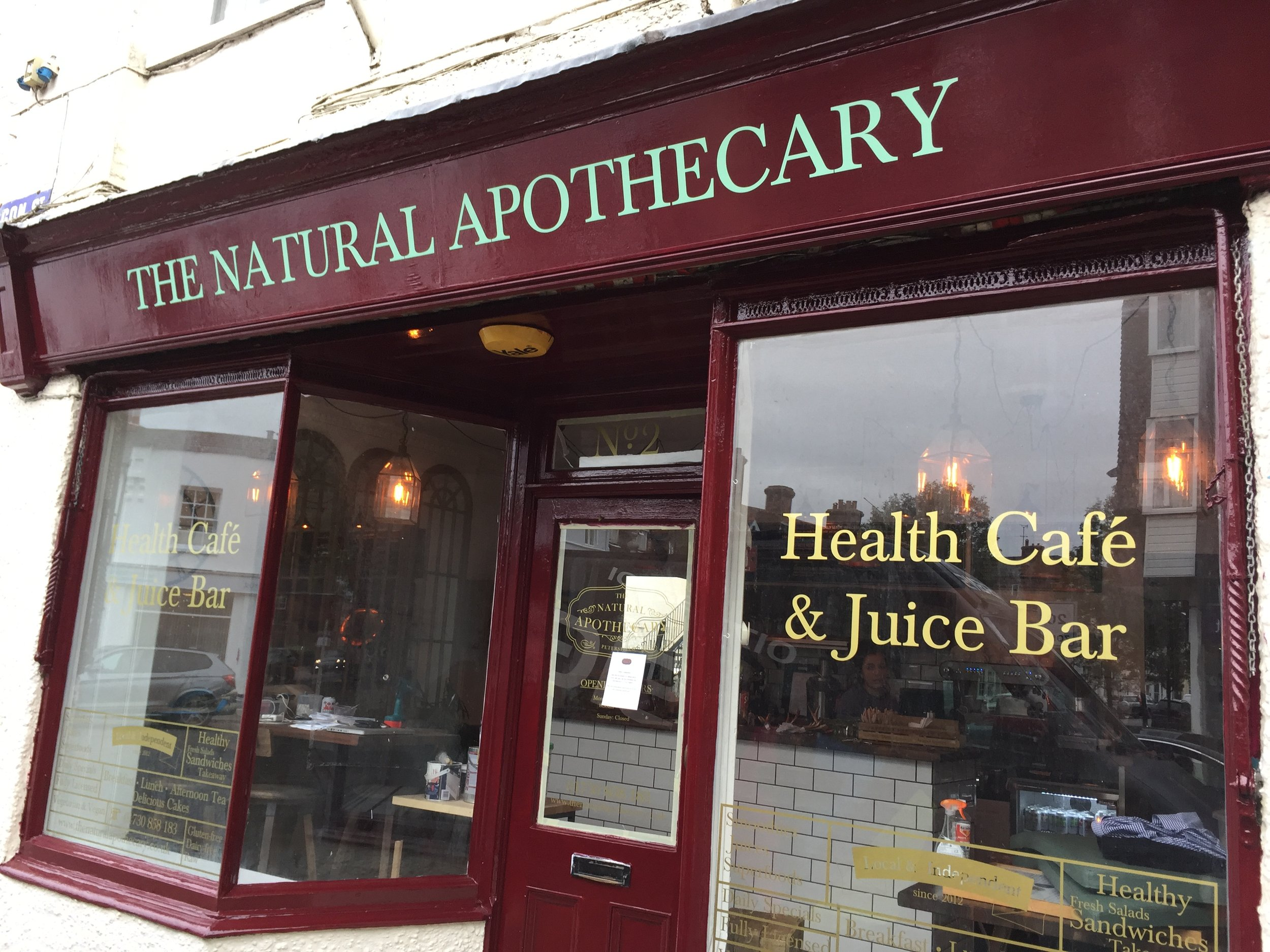 Natural Apothecary Shop Front Signs