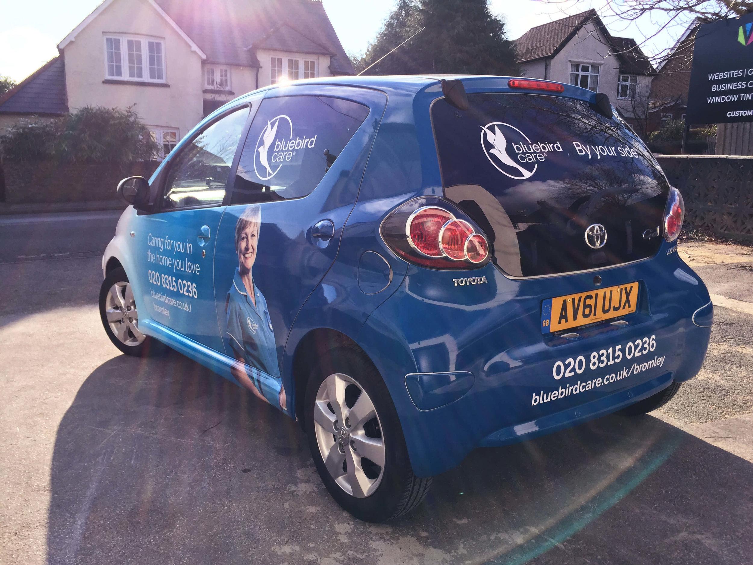 Bluebird Care Car Wrap