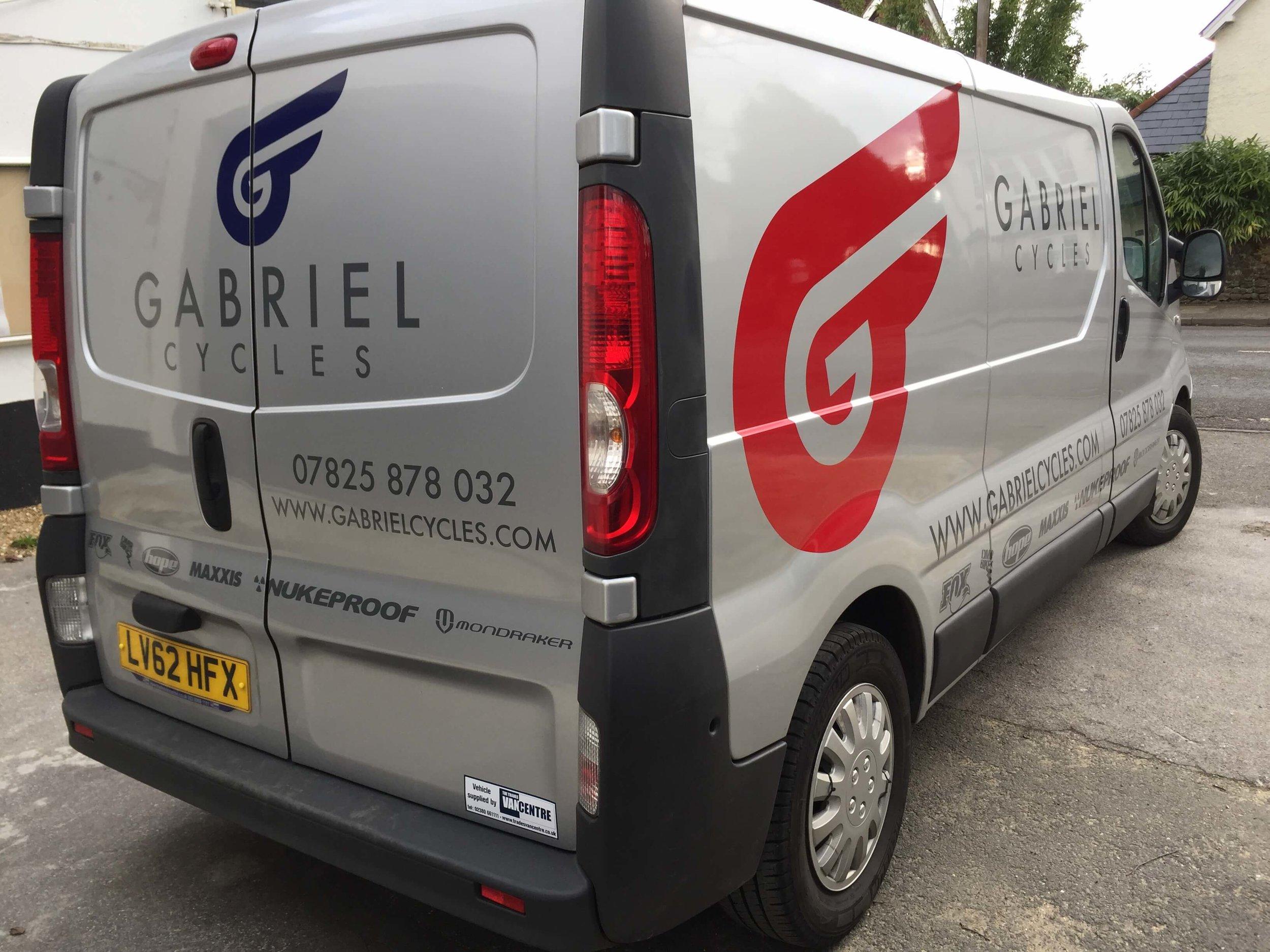 Gabriel Cycles Van Graphics