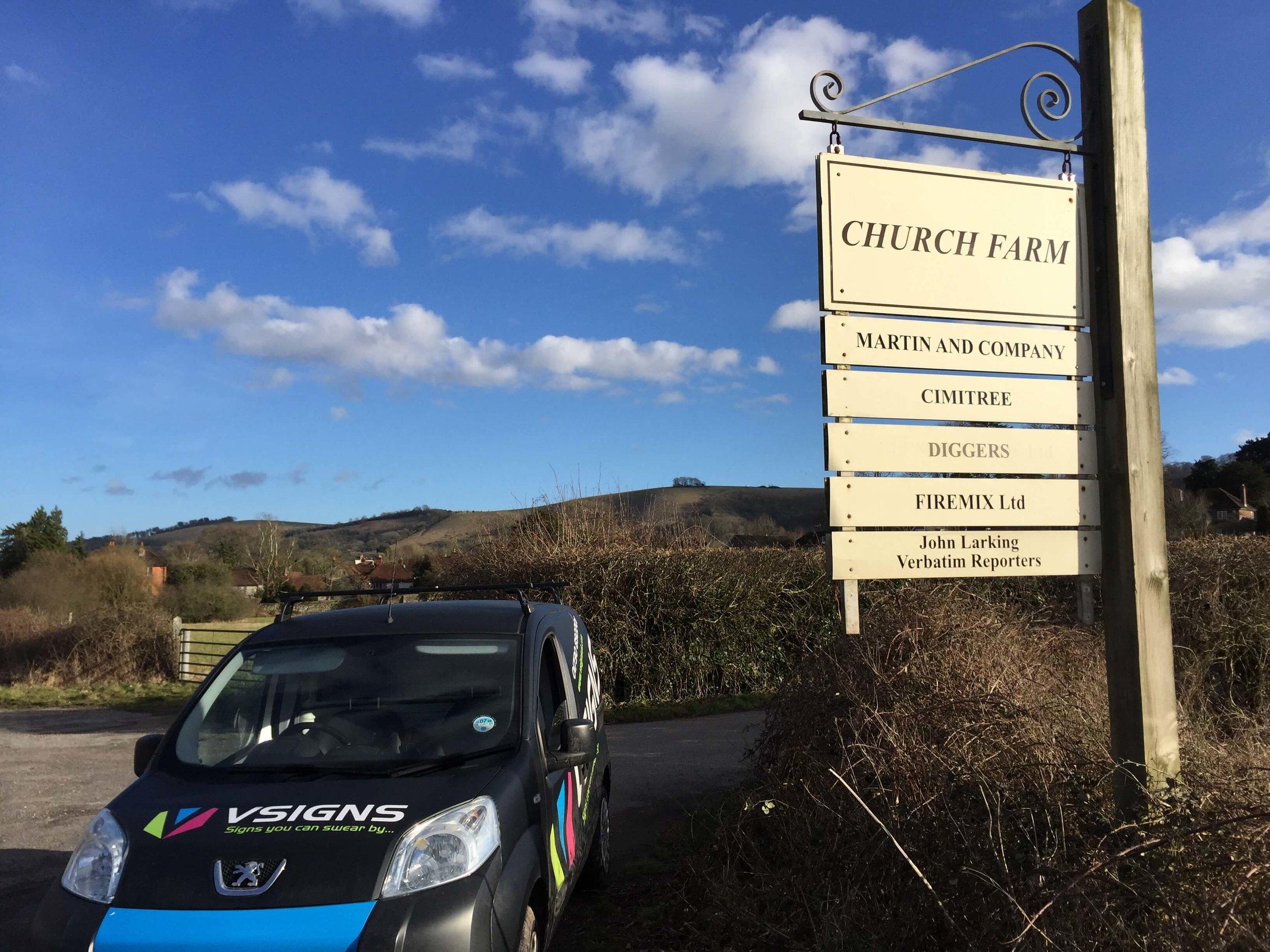Church Farm Business Park Signs