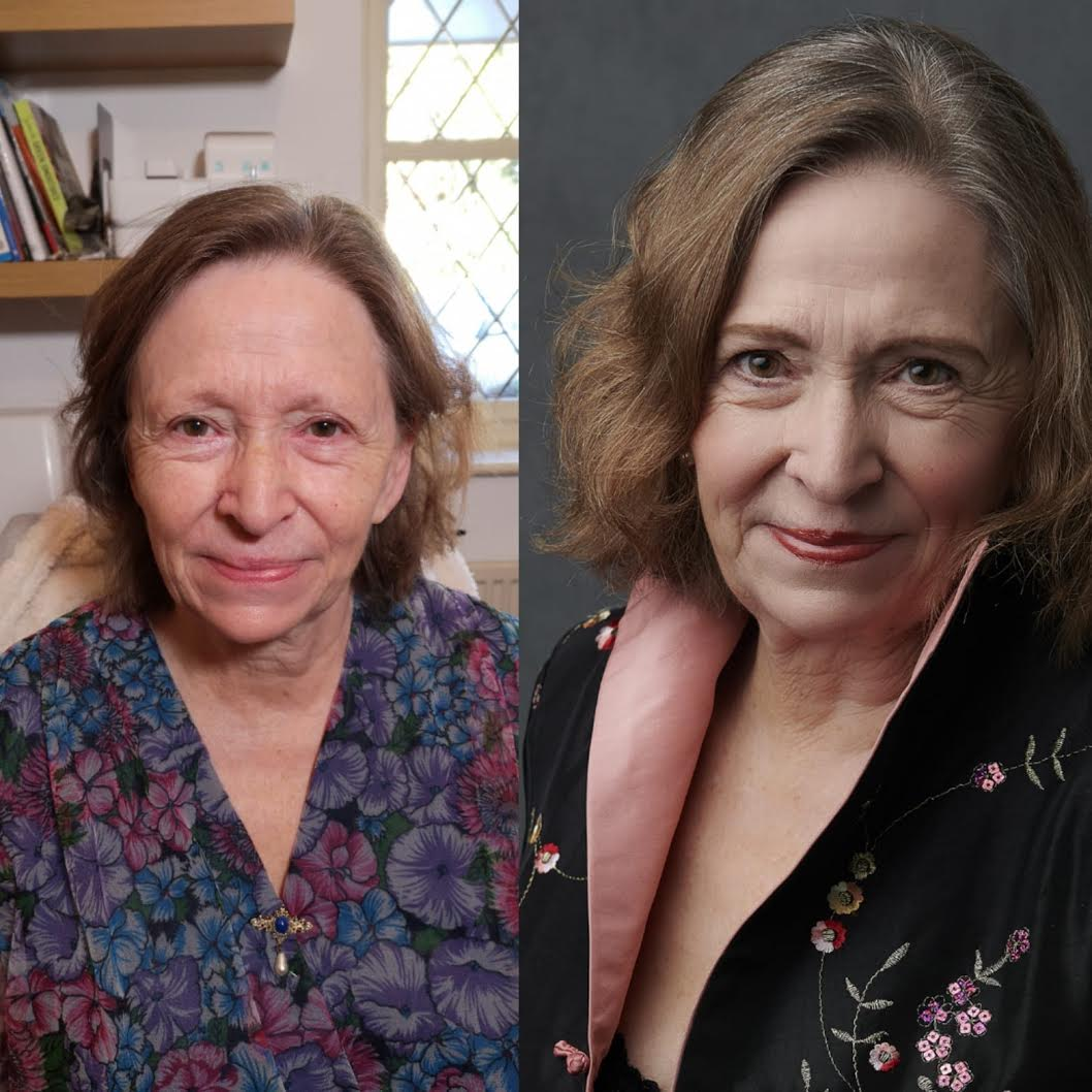 The fabulous Jan Rook before and after makeup