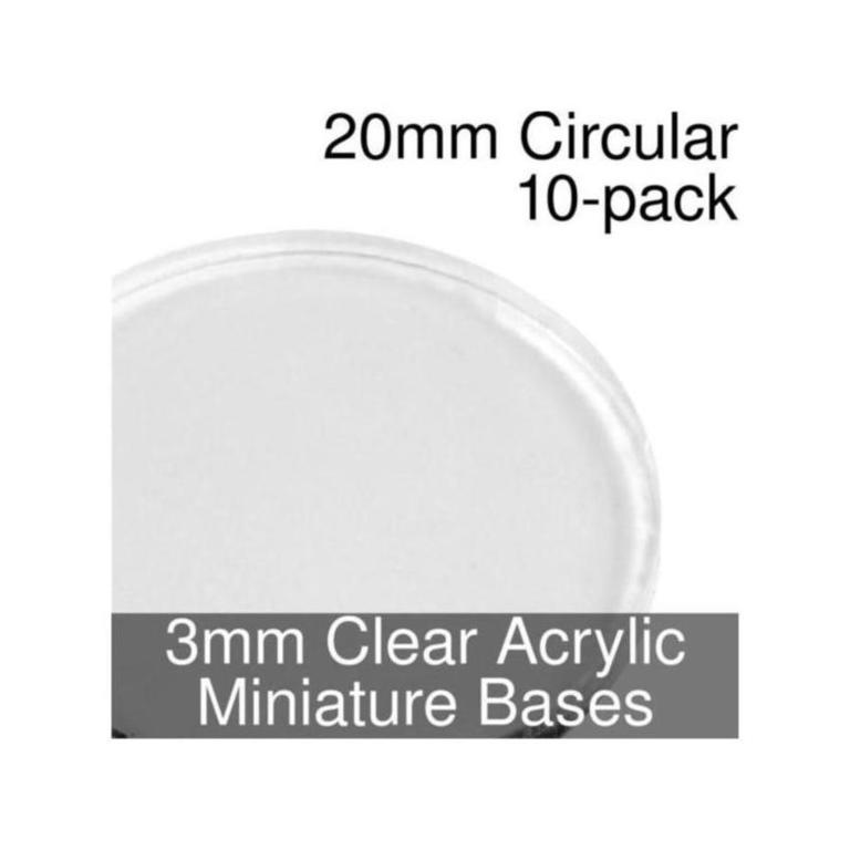 CIRCLE 5mm BLACK ACRYLIC BASES for Roleplay Miniatures ROUND