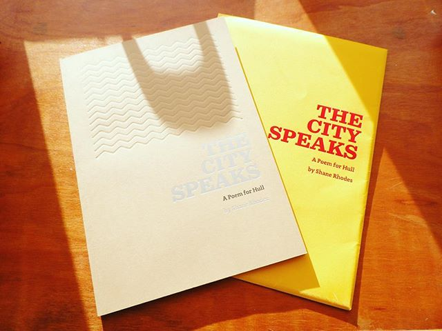 ~ NEW IN THE THT SHOP ~  We're pleased to announce we are now selling our good friend Shane Rhodes' wonderful book 'The City Speaks'. The poem that opened Hull's UK City of Culture celebrations can now be taken home as a beautifully-bound limited edition souvenir book.  Take home an authentic piece of Hull history. Available now in our online shop for just £15.