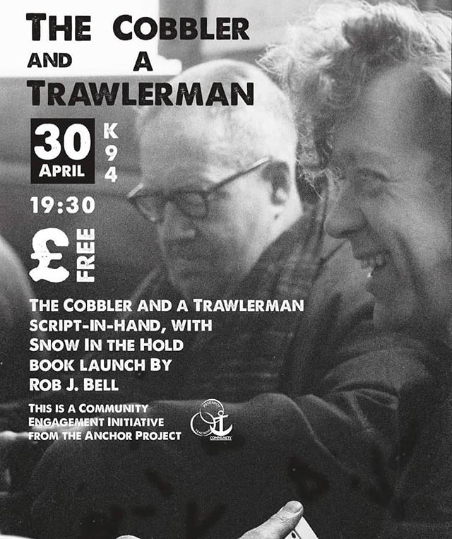 Tonight we have a 2 part evening of entertainment!  FREE 7.30pm @kardomah_94  To start, a script-in-hand piece called The Cobbler and a Trawlerman.  An unlikely friendship of a Yiddish Cobbler and a Hessle Road Trawlerman.  This will be followed by Snow In the Hold book launch.  The title of the book refers to asbestos; the stories inside have been inspired by the lives of dockers and their families.  With songs from Hillbilly Troupe.  #HullLegacy #theatre #livemusic #community #heritage #dockers #poetry #hull #humber