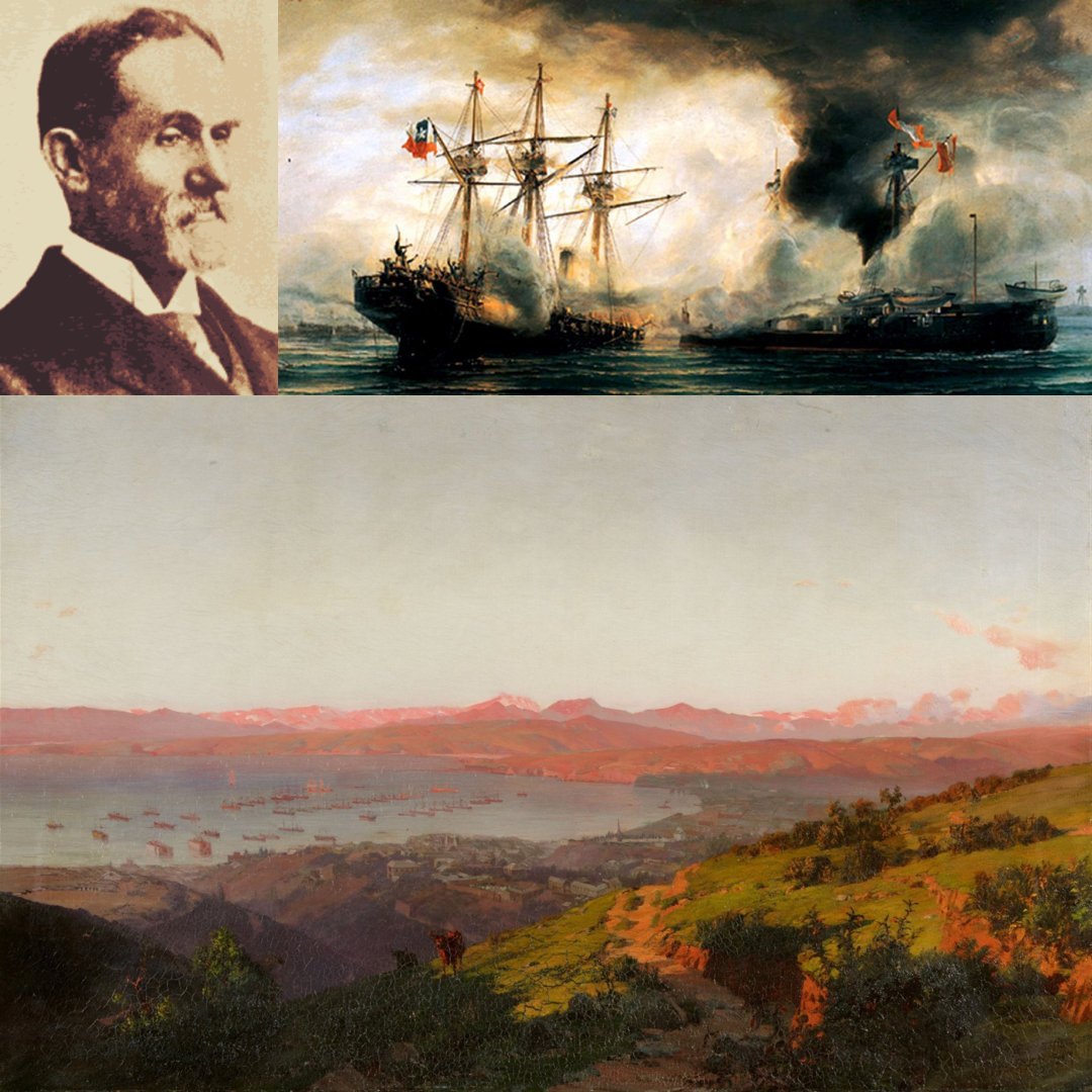 Somerscales (1842-1927) - Thomas Jacques Somerscales joined the Royal Navy and travelled around the Pacific before settling in Chile and while teaching at The Mackay School in Valparaíso he started working as a professional painter. Many of his landscapes evoke the region and many of his marine paintings feature notable events in Chilean naval history. This talk explores his life and work as a little known artist in England to a painter of patriotic national icons in Chile.