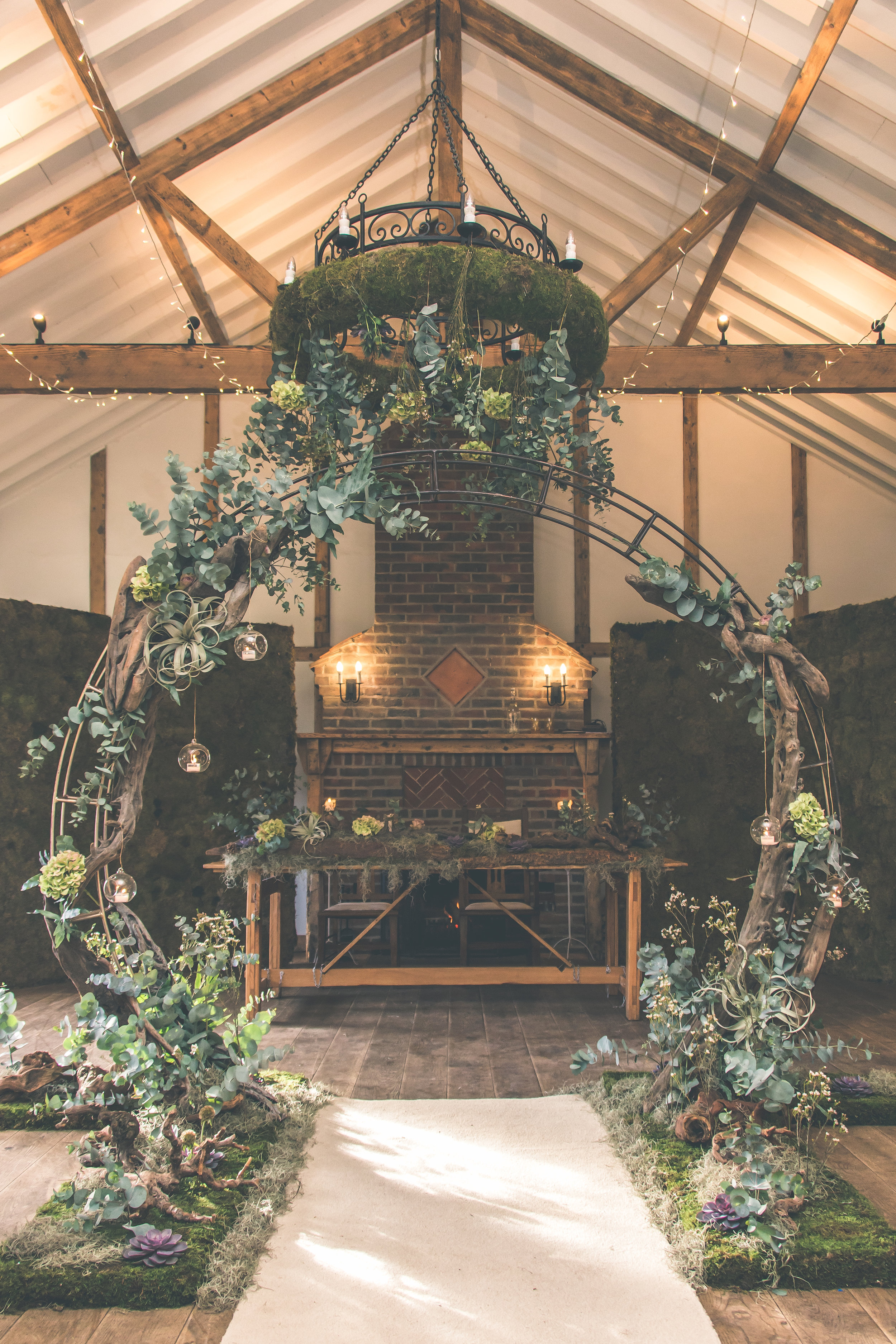 My Ancient wood moon gate at Burley Manor wedding back in December for Yvonne and Chris