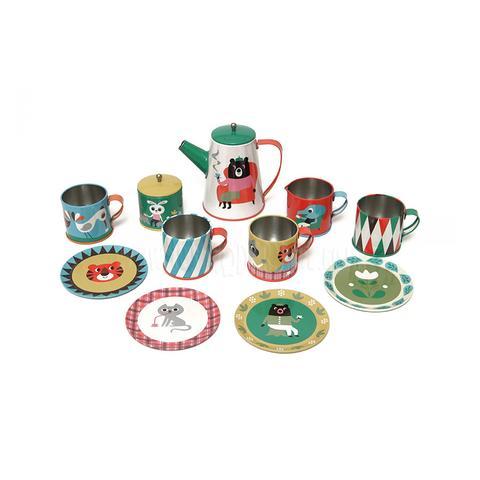Tea (or coffee) set - Shock horror. Boys both drink and make tea.OMM Design tin tea set £25  This Modern Life
