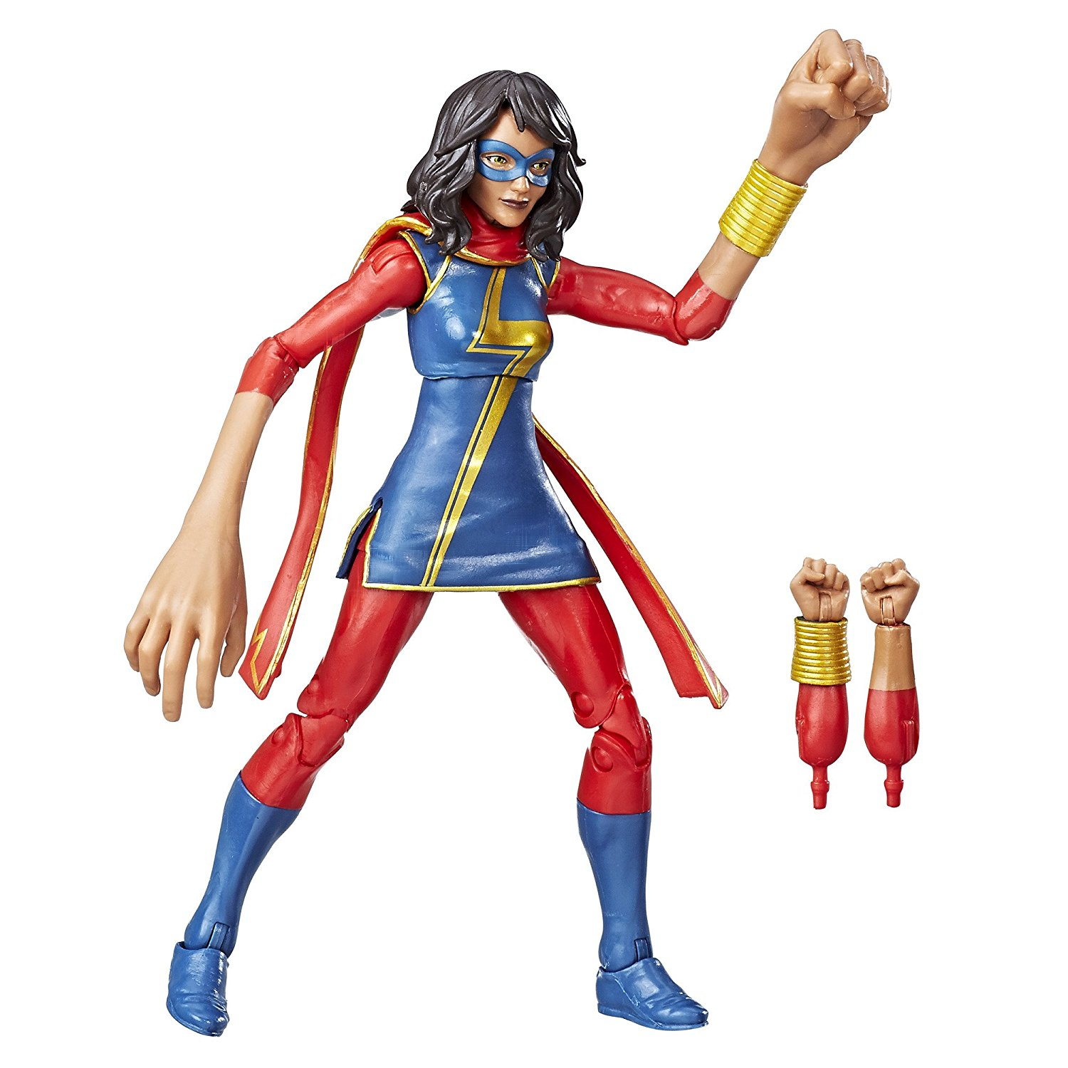Ms Marvel - Got a superhero fanatic? Did you know there was a super cool female superhero who kept her clothes on? And isn't white? (so annoying this is still a massive breakthrough.)Ms Marvel action figure £23 Amazon
