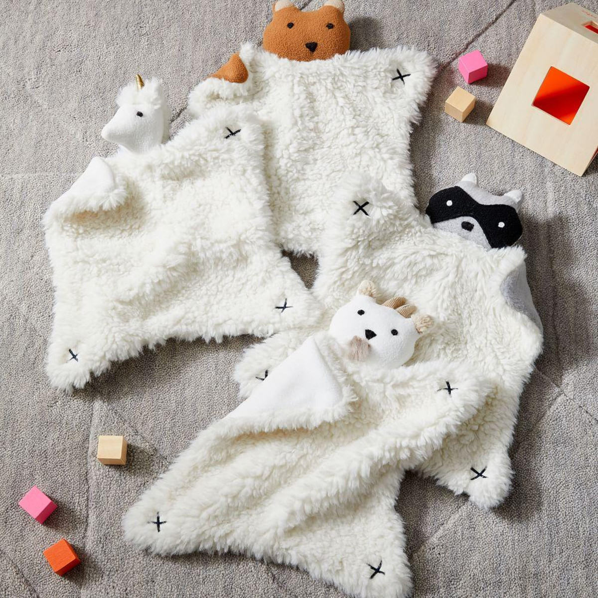 Thumbies - Easy for little fingers to hold onto, ultra-comforting and soft for nap-time cuddles. We can't promise they'll help stubborn one-ies actually go to sleep though…£29West Elm