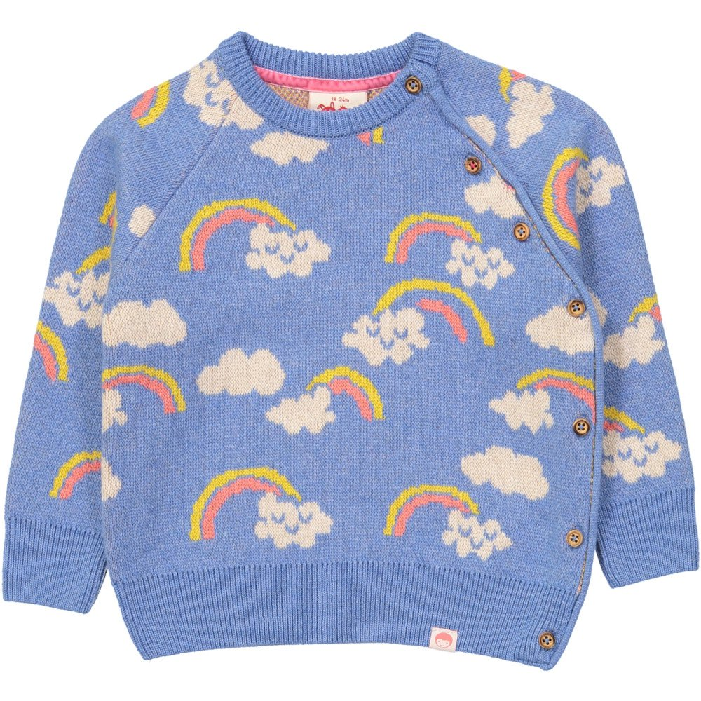 Rainbow jumper - Smiles and rainbows in an easy dressing cashmere mix. And machine-washable - the holy grail.£48Tootsa