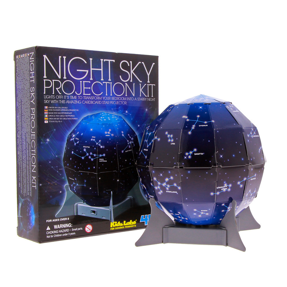 Night sky projector - The night sky is magical. This clever kit will help you bone up on your constellations so you don't get caught out with too many questions you can't answer about it. (Voice of experience? Yes, of course.)£15Natural History Museum London