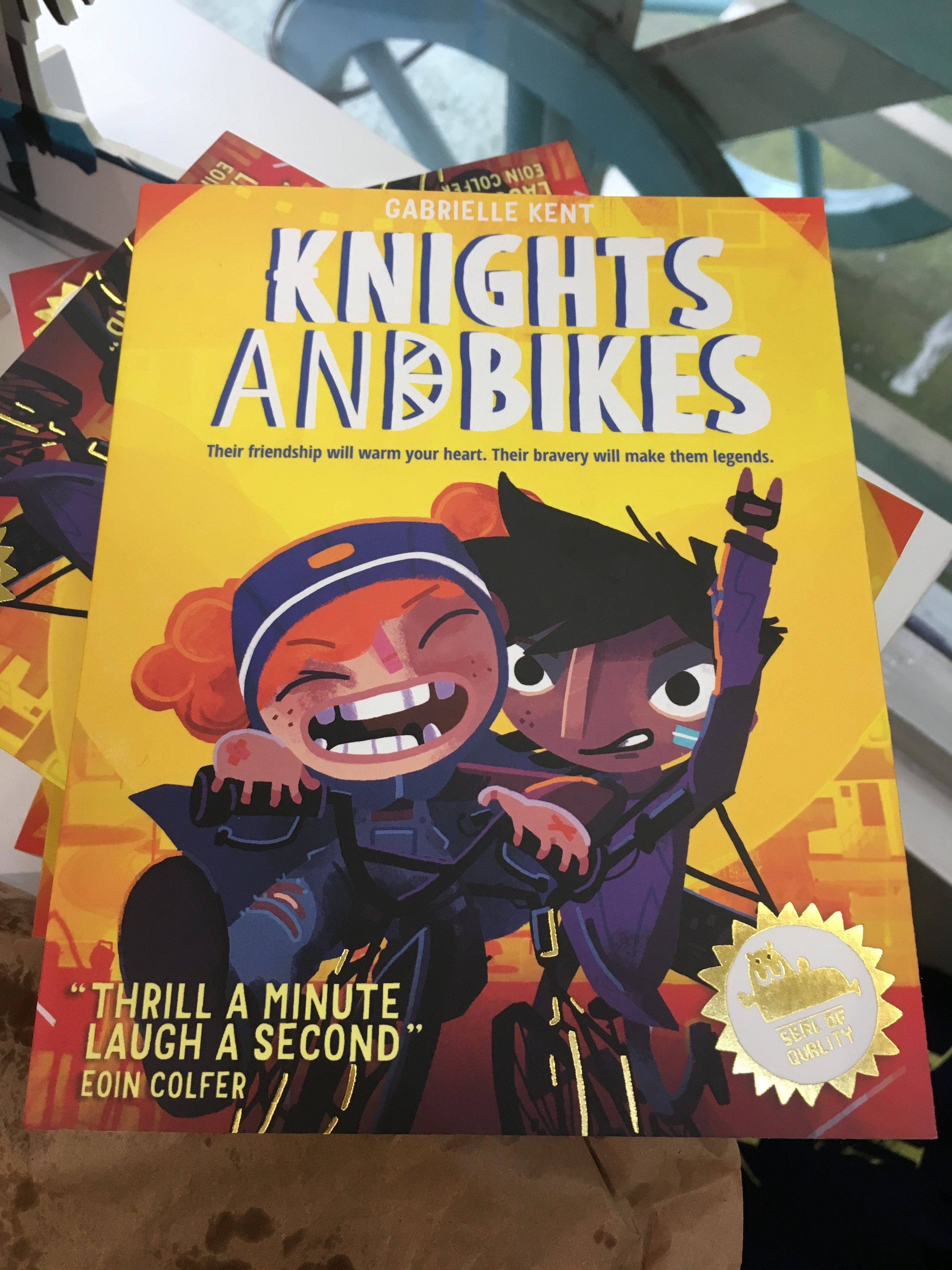 Knights & Bikes - This book is fun, funny and adventurous. Featuring two excellent female leads, this book tells the story of saving your home through friendship and bravery. A complementary computer game launches next year.£6.99Waterstones