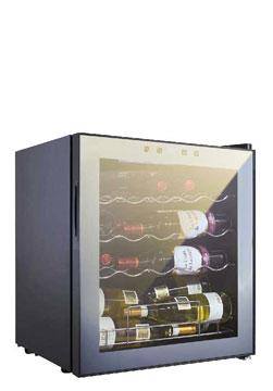 19WMC2      Capacità 19 bottiglie Porta vetro a specchio A/L/P:           506 x 474 x 435mm