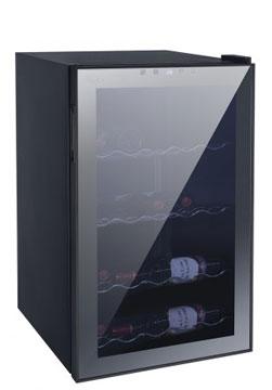 60WMC      Capacità 60 bottiglie Porta vetro a specchio A/L/P:           833 x 495 x 555mm