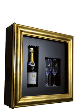 CLASSIC C1 CHAMPAGNE COOLER  Frame type Classic one bottle/two glasses H/W/D: 600x600x155 mm