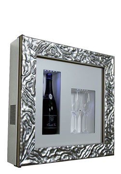 DUNE C1 CHAMPAGNE COOLER   Frame type Dune one bottle/two glasses H/W/D: 600x600x155 mm